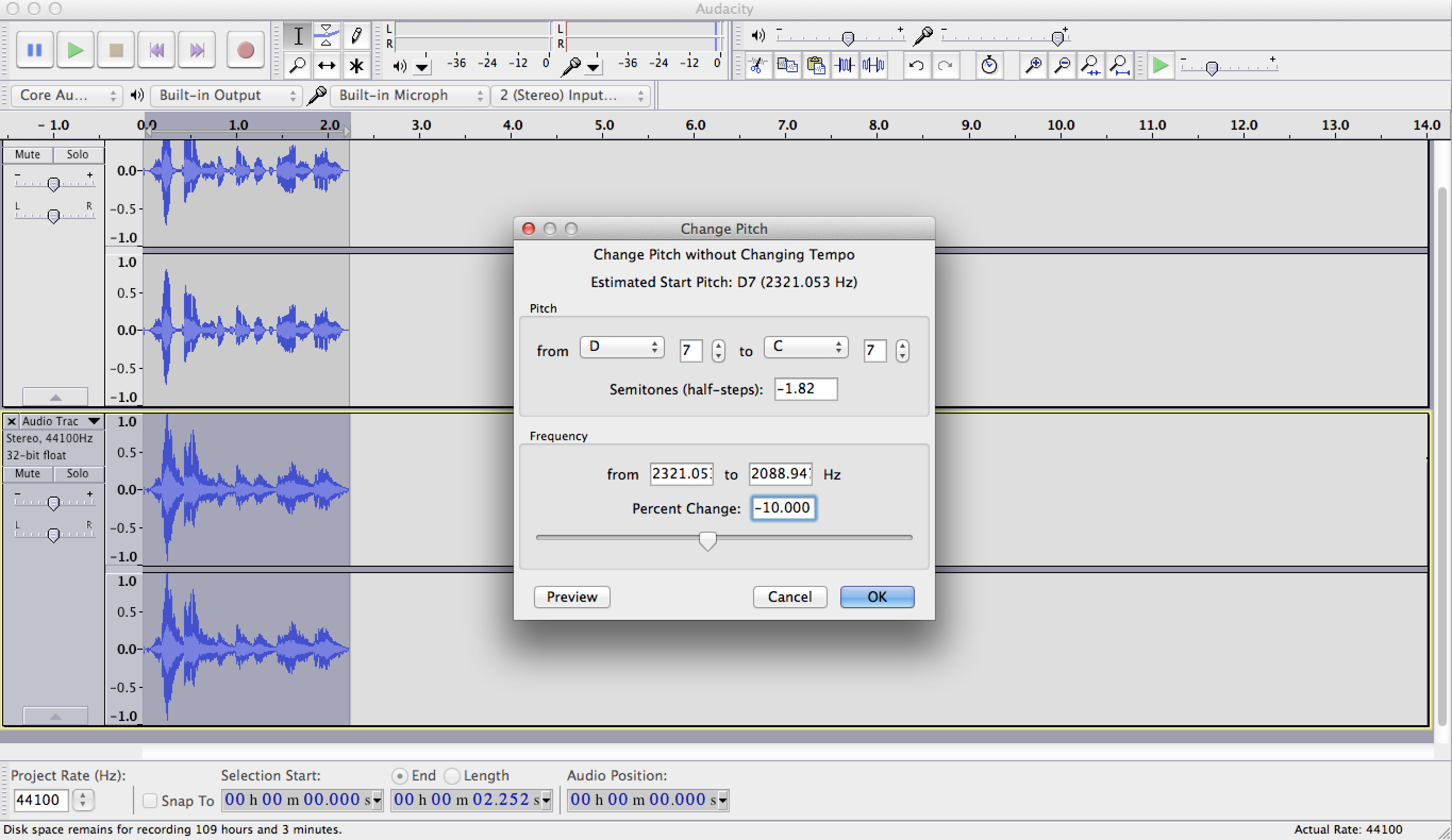 How to make your voice sound like a robot with audacity — photo 2