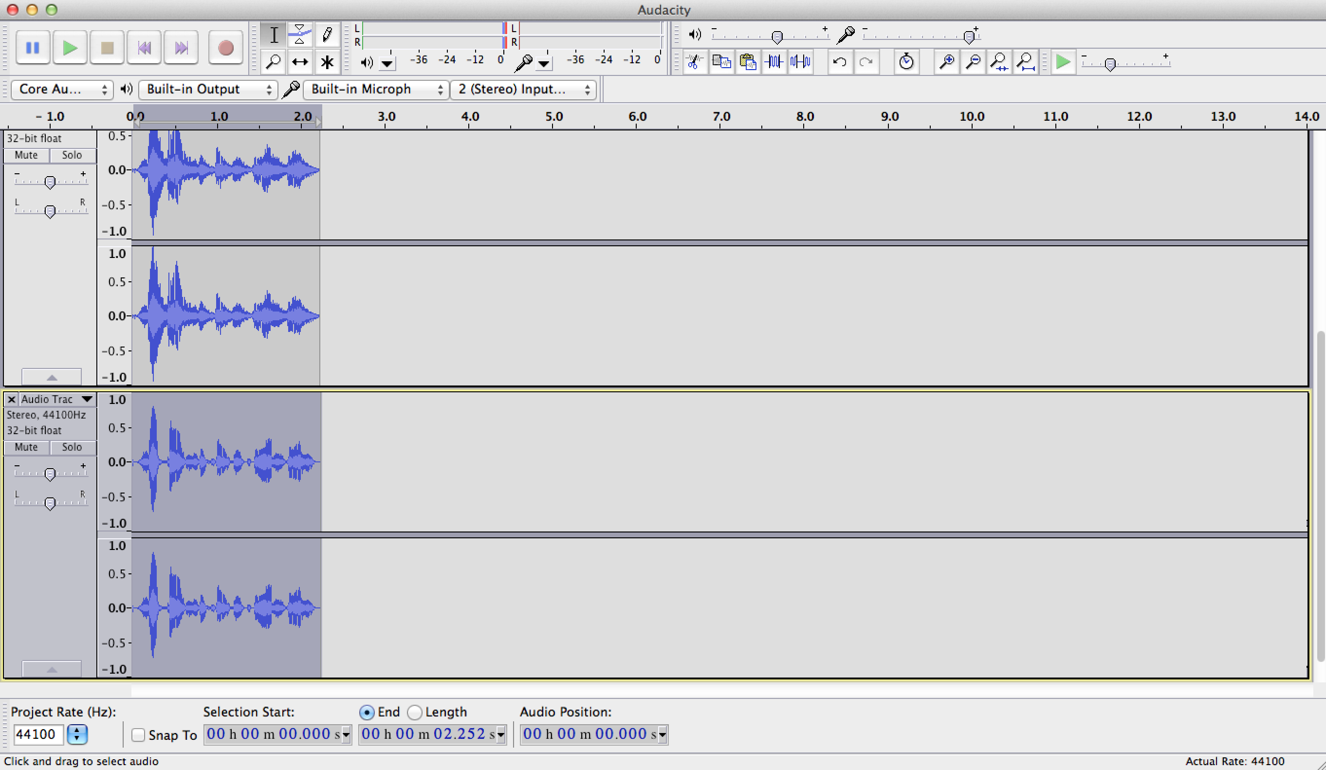 how to create layer on audacity